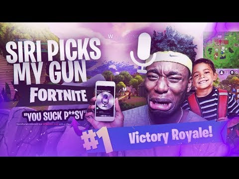 SIRI PICKS MY WEAPONS TO CARRY 3RD GRADE KID TO VICTORY! WILDEST DUOS ENDING OF ALL TIME