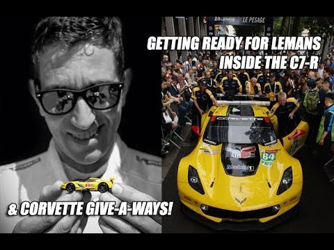 GETTING READY FOR LEMANS 2018 & INSIDE C7-R CORVETTE with OLIVER GAVIN