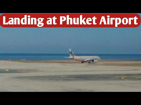 LANDING AT PHUKET AIRPORT, THAILAND