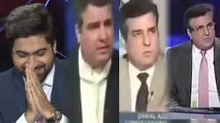 Anchor Syed Haider Ali plays old clips of Daniyal Aziz when he uses to criticize PMLN