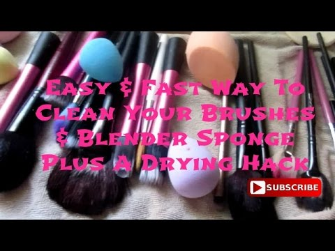 Fast & Easy Way To Clean Your Brushes & Blender Sponges Plus A Drying Hack