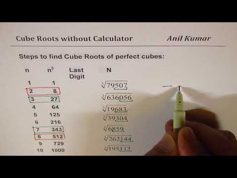Cube Root Without Calculator for Perfect Cubes Exam Practice