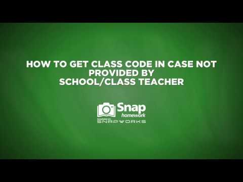 I don't have class code: For Parents and Students
