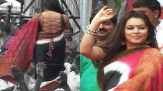 Hottie Mahima Choudhary  in String Choli And Saree  At Dahi Handi Function