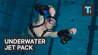 Become a human torpedo with this underwater jet pack