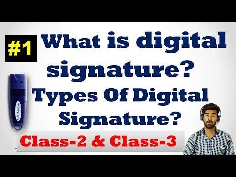 What is Digital Signature? Types Of Digital Signature? Part-1