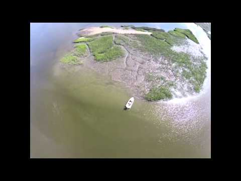 Redfish Spottail Bass Like You Have Never Seen Them Before Filmed With Drone  Beaufort Sc  Phantom