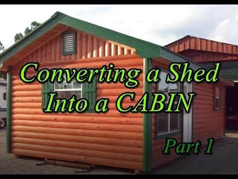 How to Convert a Shed into an Off Grid Cabin
