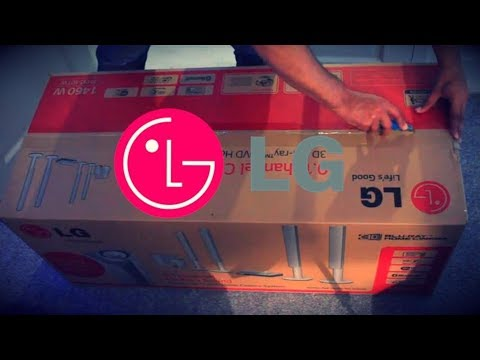 THE BEST LG HOME THEATRE SURROUND SOUND UNBOXING AND SPEAKER SET UP !!!