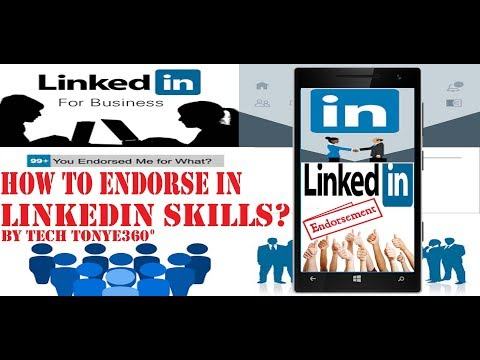 How to Endorse on linkedin skills with android  by tech tonye360
