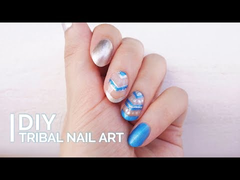 DIY Tribal Nail Art | Summer nail designs