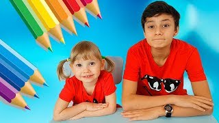 Alena And Pasha At School Collection For Children