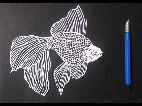 paper cutting art how to draw a fish by paper cutting