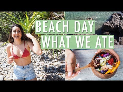 Beach Day + What We Ate | NOOSA VLOG