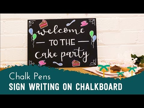 Chalkboard Sign Writing with Liquid Chalk Pens for Parties, Weddings, and more! | Stationery Island