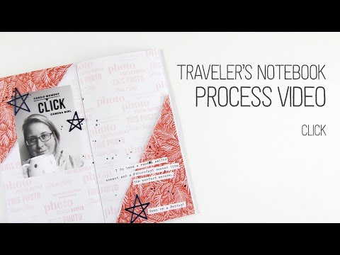 Traveler's Notebook layout // Click // Don't try this at home!