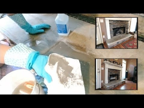 Removing Adhesive From Concrete/Stone - Cleaning a Fireplace - Removing Childproof Safety Foam