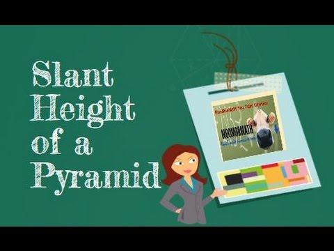 Find slant height of a pyramid-Geometry Help-MooMooMath