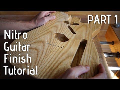 Nitro Guitar Finish Tutorial - Part 1: Preparation & Grain Filler