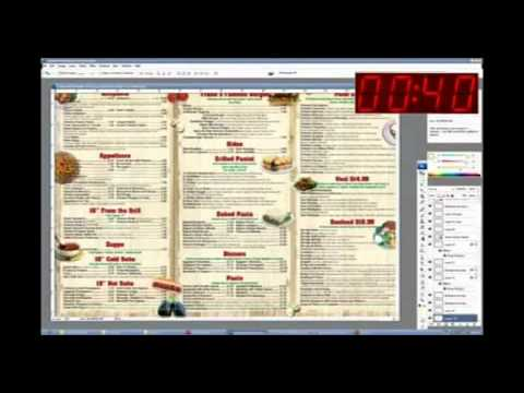 How to make restaurant menu design within 2 hours