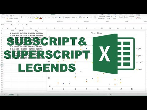 How to add subscripts into legends in excel?
