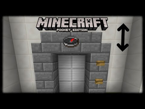Minecraft PE | How to Make a Working Elevator (No Mods or Addons)