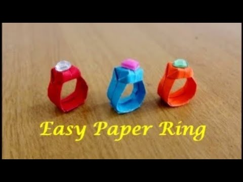 How to make an Easy Paper Ring ~ Origami Ring ~ Tutorial ~ Step by Step Instructions ~ DIY ....