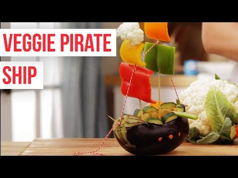 How To Make a Veggie Pirate Ship