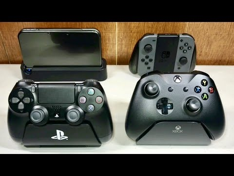 BEST CONTROLLER STANDS for PS4, Xbox One, Switch & New 3DS XL!! REVIEW Controller Gear Stands