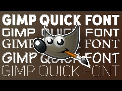 GIMP Scroll through Fonts Quickly: Text Style Preview