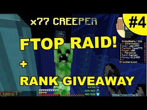 FIRST RAID + RANK GIVEAWAY! ~ BRAWLWARS #4 (Minecraft Factions)
