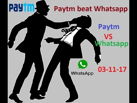 Paytm vs Whatsapp / paytm big SIX
