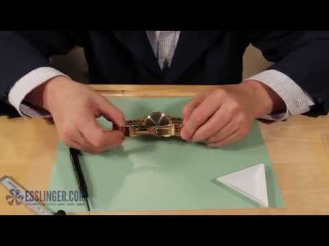How to Replace a Single Fold Watch Band Clasp with Push Buttons