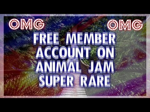 Free Rare Member account on Animal Jam