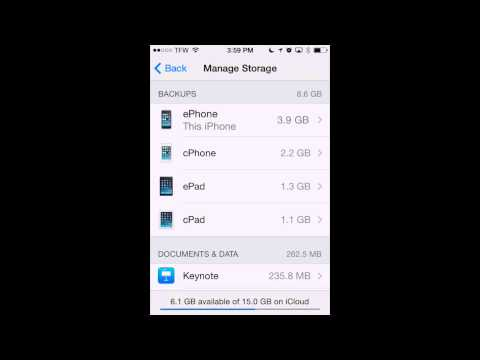 How to Free iCloud Storage Space if you get the