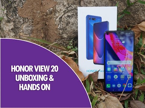 Honor View 20 Unboxing and Hands on- World's First 48MP Rear Camera