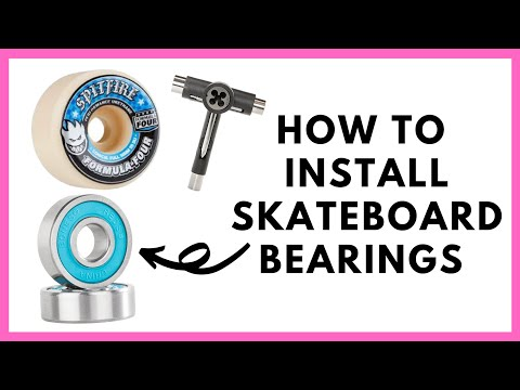 How to Remove and Install Skateboard bearings