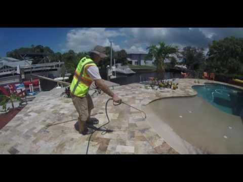 Travertine cleaning & sealing. Pasco - Hernando - Hillsborough - Tampa