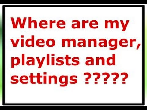 How to access YouTube video manager