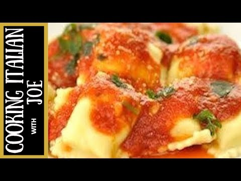 Homemade Ravioli with Ricotta Filling Cooking Italian with Joe