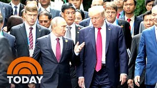 President Trump Meets With Putin, Presses Him On Alleged Election Meddling   TODAY