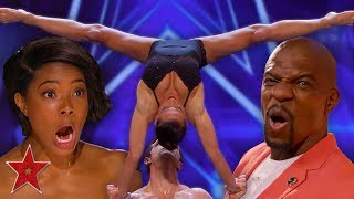 Download FLIRTY Acrobatic Dancers SHOCK The Audience On America's Got Talent | Got Talent Global Video