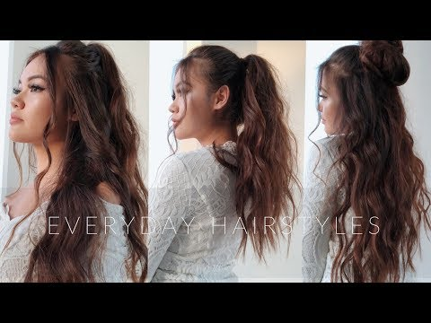 My 4 Everyday Hairstyles | viviannnv