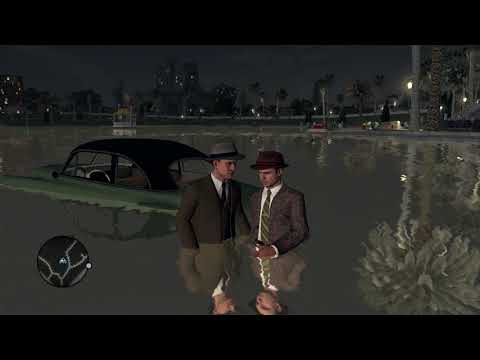 Either the developers of L.A. Noire haven't tried walking through water or Cole Phelps is superhuman