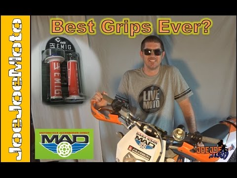 Best Dirt Bike Grips Ever? EMIG Lock On Grip - How To and Review.