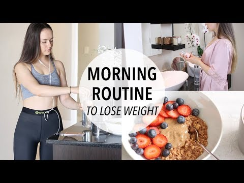 MY MORNING ROUTINE TO LOSE WEIGHT + HEALTHY BREAKFAST IDEA!