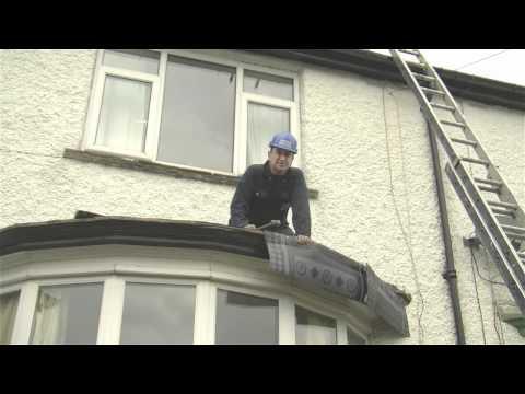 Flat Roof on a Bay Window Top using High Performance Felt | Dalton Roofing