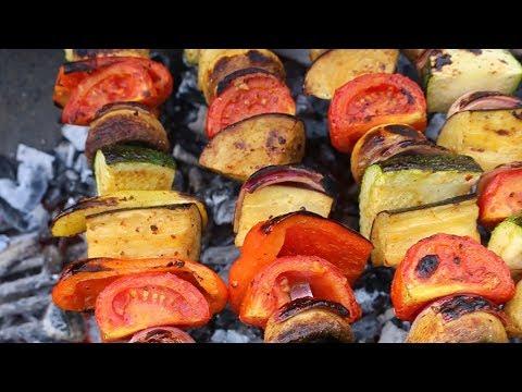Vegan Kabobs / Veggie Kabab / Vegetable Kebab