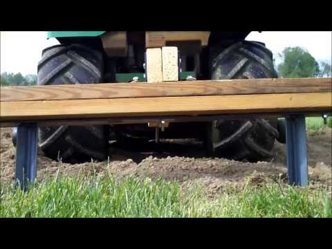 How to make a Redneck Garden Two Row Marker! Pulled by John Deere Lawn Mower!