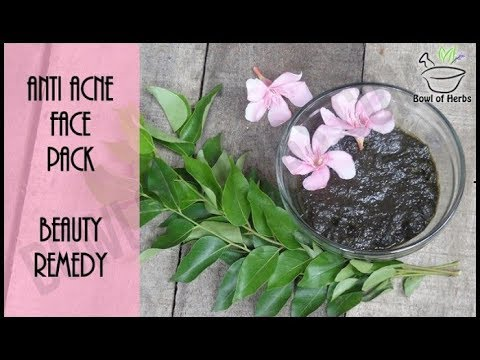 Recipe To Treat Acne with Curry Leaves Anti Face Pack | Bowl of Herbs